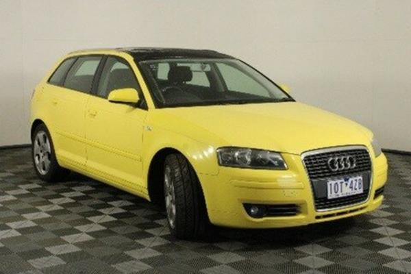 2006 Audi A3 8P Ambition Sportback DSG Yellow 6 Speed Sports Automatic Dual Clutch