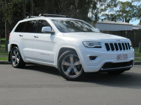 2014 Jeep Grand Cherokee WK MY2014 Overland White 8 Speed Sports Automatic